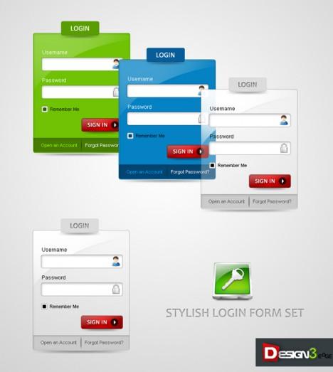 Plantilla de login y autenticación de usuarios en PSD