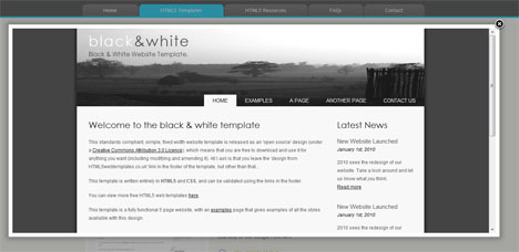 plantilla html5 template