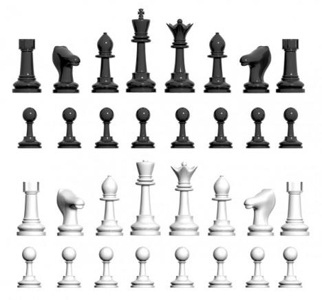 Figuras de ajedrez para recortar - Imagui