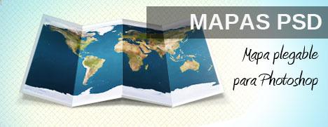 Plantilla de Mapa para Photoshop