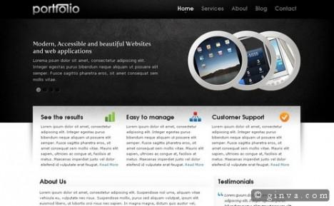 Plantilla Portfolio HTML y CSS gratis