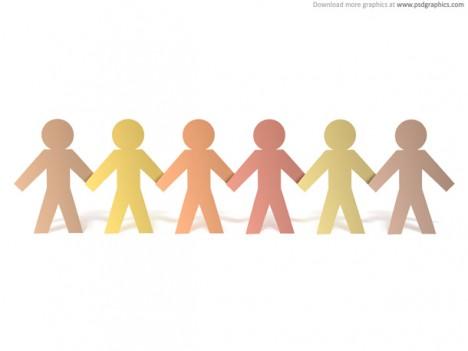 Plantilla de personas tomadas de la mano | Plantilla