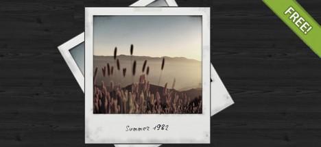Plantilla con marco de fotos Polaroid PSD para descargar gratis