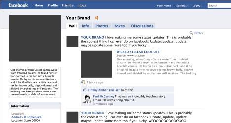 Plantillas Para Facebook Plantilla Fan Page de Facebook