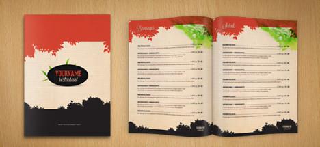 Plantilla de Menú de Restaurante para Photoshop